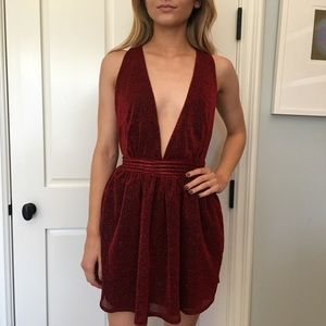 NWT NastyGal Red Sparkly Dress