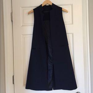 Zara open long vest