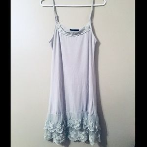 French lace hem dress