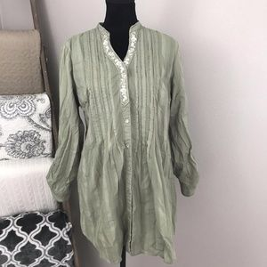 Style & Co. Button Front Tunic Blouse Size 12