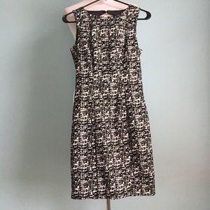 Professional Sleeveless Black Textured Dress