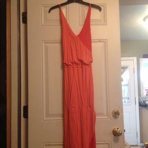 Orange and Peach Maxi Dress