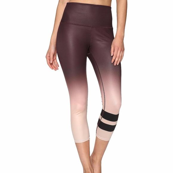cb75493fd2 ALO Yoga Pants | Alo High Waist Airbrush Capri Mink Gradient Nwt ...