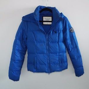 ❄️💙 A&F BLUE PUFFER WINTER COAT