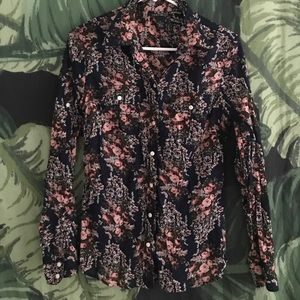 Lucky Brand Floral Button Down