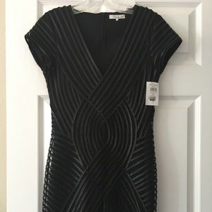 NWT Parker Black Faux Leather Dress Size Small