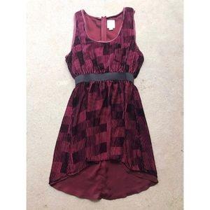 {Anthropologie} Line & Dot Velvet Silk Dress