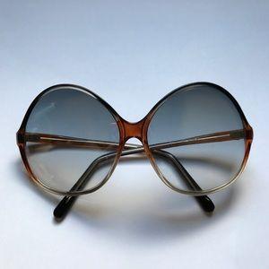 Vintage 80s Oversized Gradient Lens Sunglasses