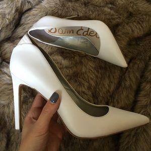Sam Edelman white pointy heels