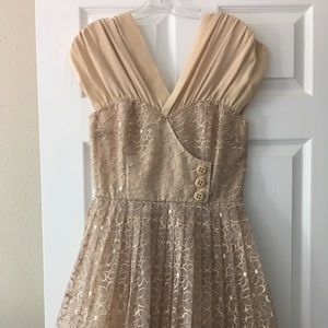 NWT Tracy Reese Frock Tan Dress Size 6 Gorgeous