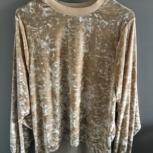 Zara Crushed Velvet Sweater