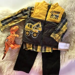 New 3pc set toddler size 3T
