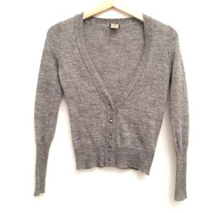 J. Crew Dulphine Bling Button Alpaca Wool Cardigan