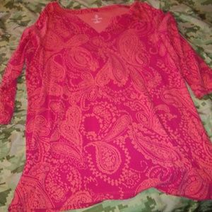 Paisley 3/4 sleeve Shirt