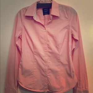 AMERICAN EAGLE light pink Button Down Ladies 6