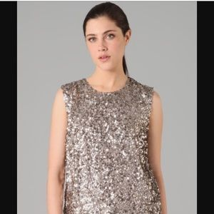 Carly Cristman silver/gold sequin top