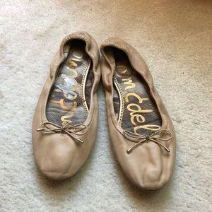 Sam Edelman Felicia Nude Leather Ballet Flats 7.5