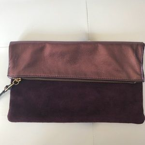Banana Republic Leather Foldover Clutch