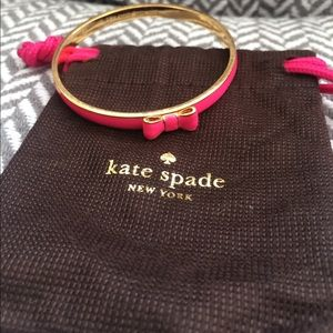 Hot pink Kate Spade bow bracelet