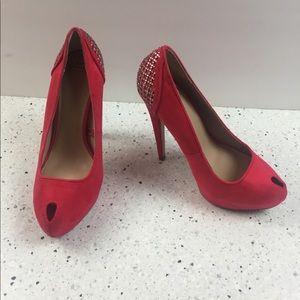 Zara Trafaluc Red / Rhinestone Holiday Heels, 37