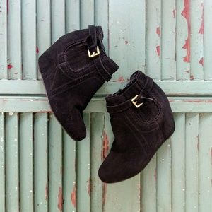 Dolce Vita suede wedge ankle boots