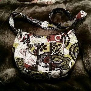 Vera Bradley Cocoa Moss Saddle Up Bag