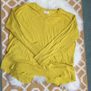 yellow lou & grey sweater size L