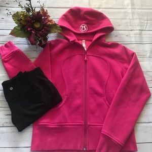 Lululemon bright fushia scuba hoodie