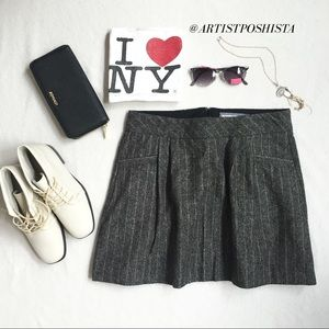 Amazing Charcoal Tweed Mini Skirt