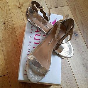 Gold Glittery Sandals