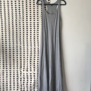 Mossimo Grey Jersey Maxi Dress sz L