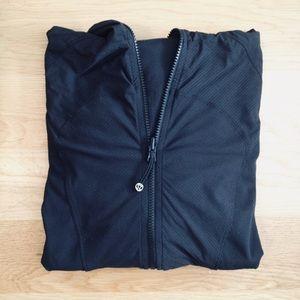 black Lululemon zip up hoodie (size: 4)