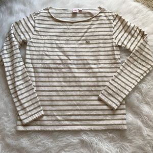 Lacoste Live Gold Striped Shirt