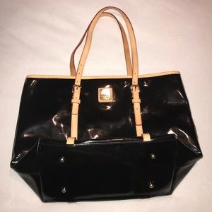Dooney & Bourke Leather/Patent Tote