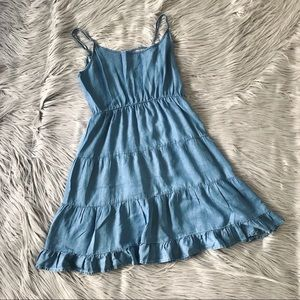 COTTON ON Denim Cut-Out Back Dress