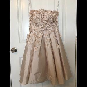 Calvin Klein Strapless Blush Petal Dress
