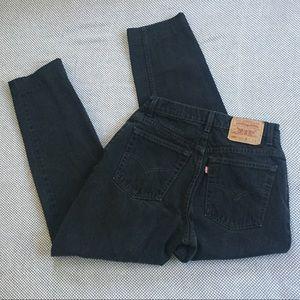 Vintage Levi's 550 black high waist mom jeans