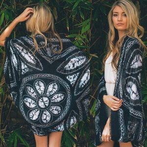 Sweaters - Black Boho Kimono