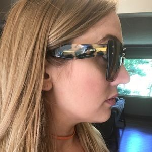 Authentic Miu Miu transparent sunglasses in Havana