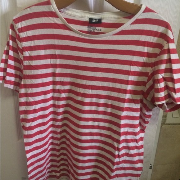 2c7626ca6ada1 H M Other - H M red and white striped Tee