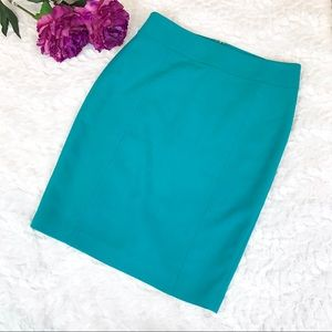 LOFT Teal Pencil Skirt