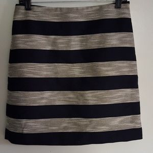 LOFT Navy Striped Skirt
