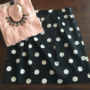 Ann Taylor LOFT Pocket Polka Dot Skirt size 10