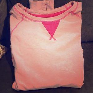 Lululemon pink sweatshirt w parachute back