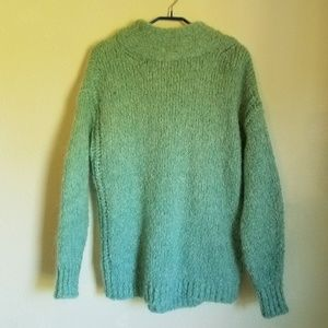 Zara Mint Tie Up Mohair Sweater