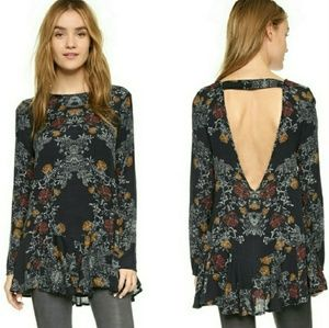 Free People Smooth Talker Navy Tunic Dress Large