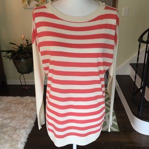 Talbots striped pullover sweater. Size large.