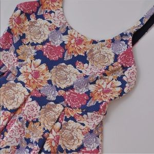 MinkPink Floral Fit and Flare Pleated Dress