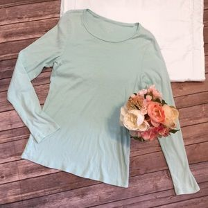 J. Crew | Perfect Fit Mint Long Sleeve Size XL