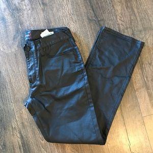 Men's coated guess black denim jeans